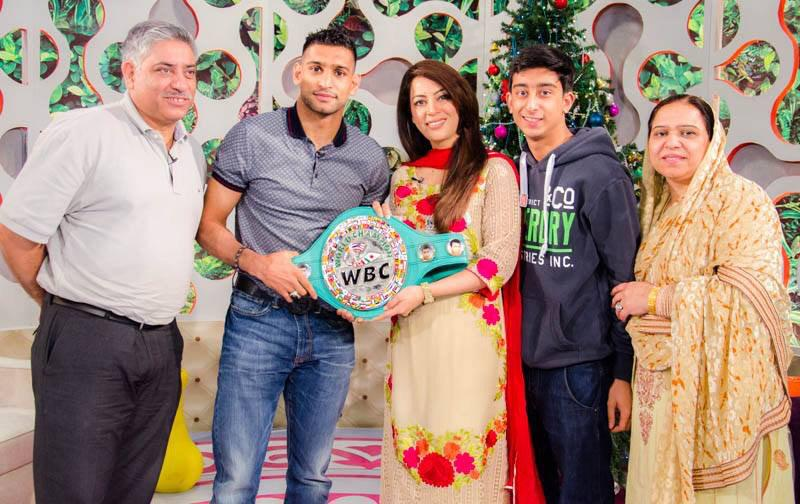 Amir Khan At The Morning Show In Islamabad