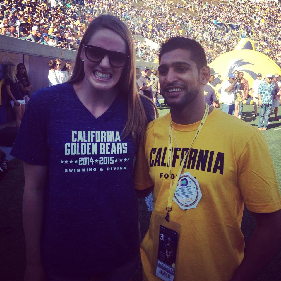Amir Khan With Missy Franklin Olympic Swimming Winner