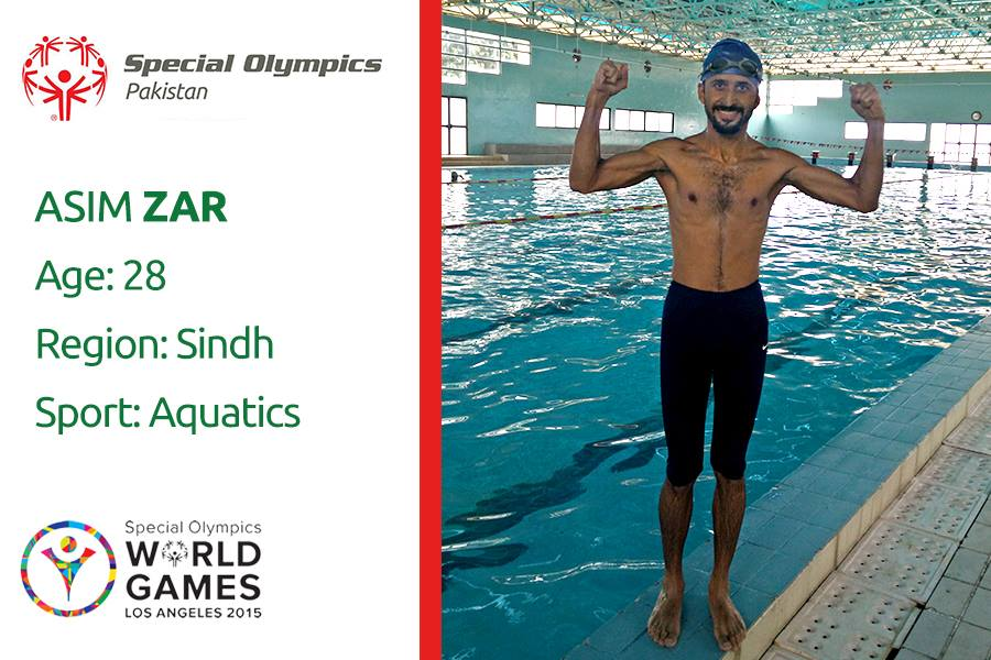 Asim Zar Won Gold Medal In Swimming In Special Olympics 2015