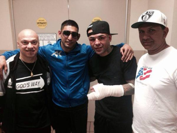 Boxer Amir Khan With Collazo At Hospital After Fight