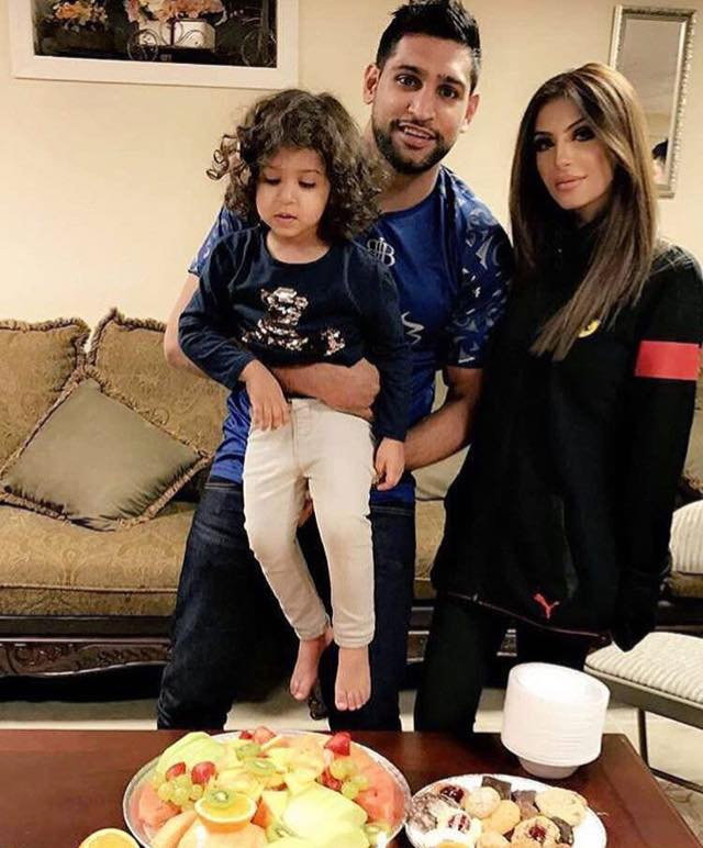 Boxer Amir Khan With Family