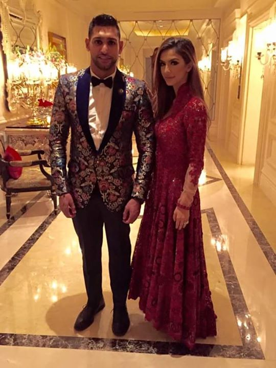 Boxer Amir Khan with wife at recent event in India