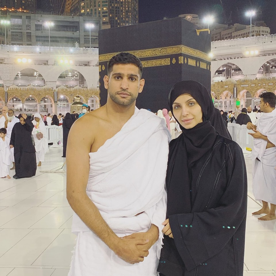 British-Pakistani Boxer Amir Khan Performing Umrah With His Wife