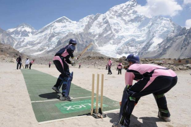 Cricket on Mount Everest in Nepal