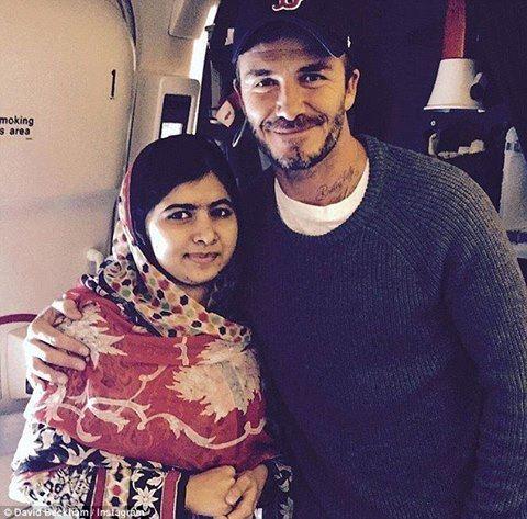 David Beckham Met Malala