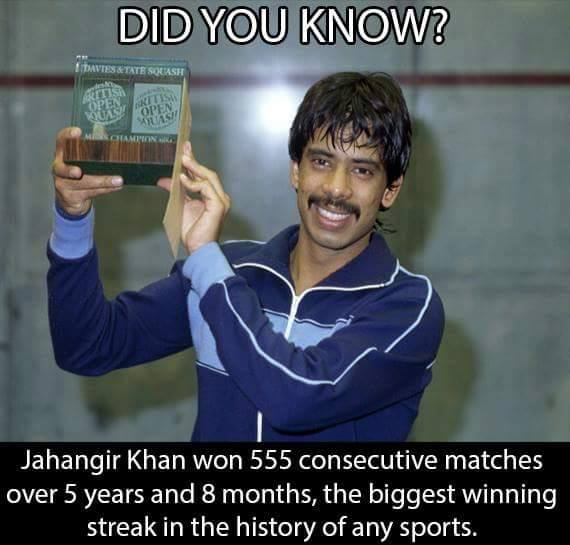 Jahangir Khan The Pakistani Legend of International Squash