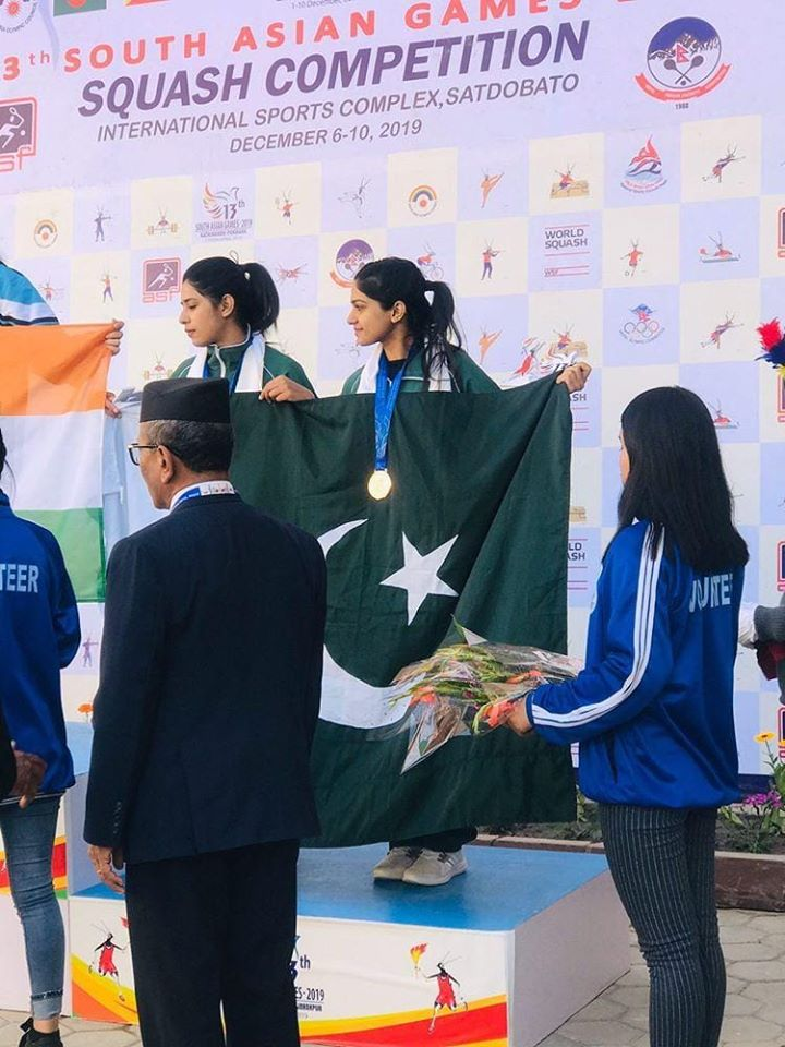 Madina Zafar And Faiza Zafar Win Bronze Medal In Squash Event At South Asian Games 2019