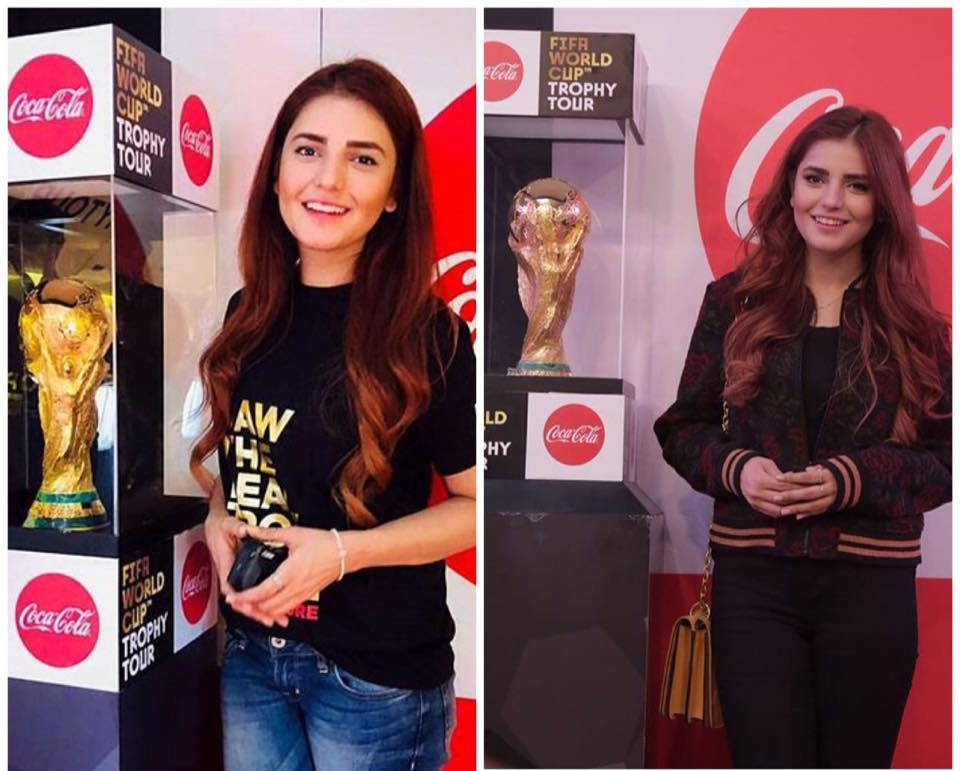 Momina Mustehsan With FIFA Trophy