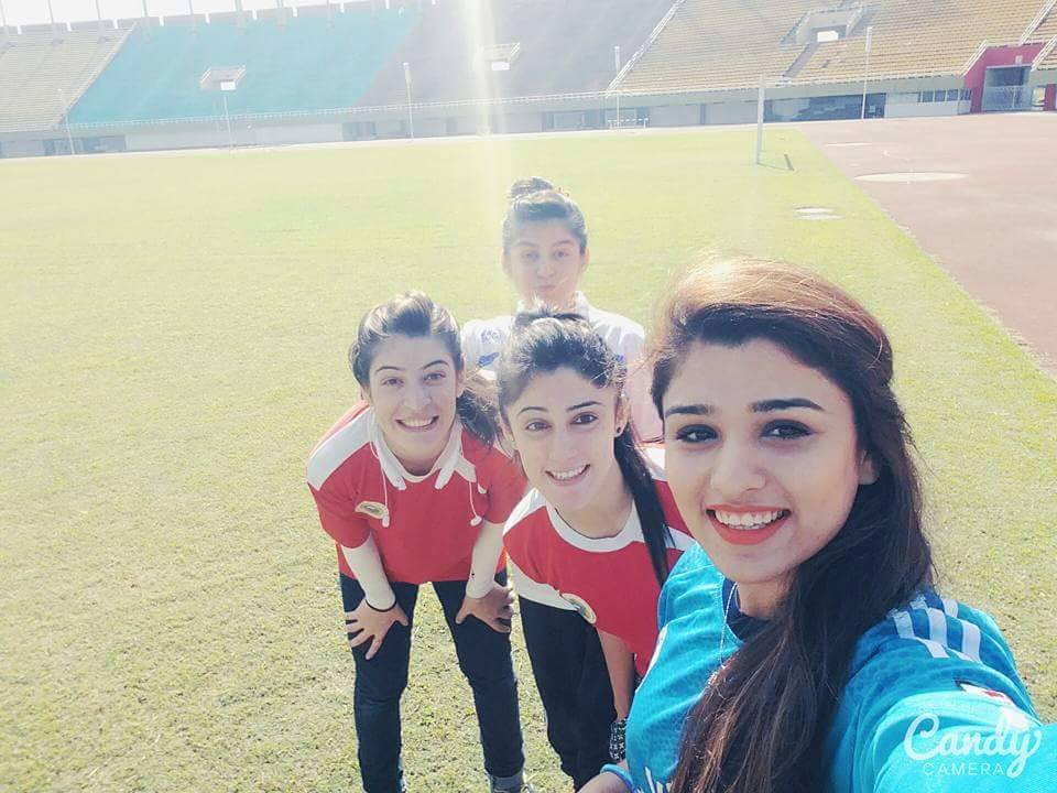 Players from Pakistan Women Football Team