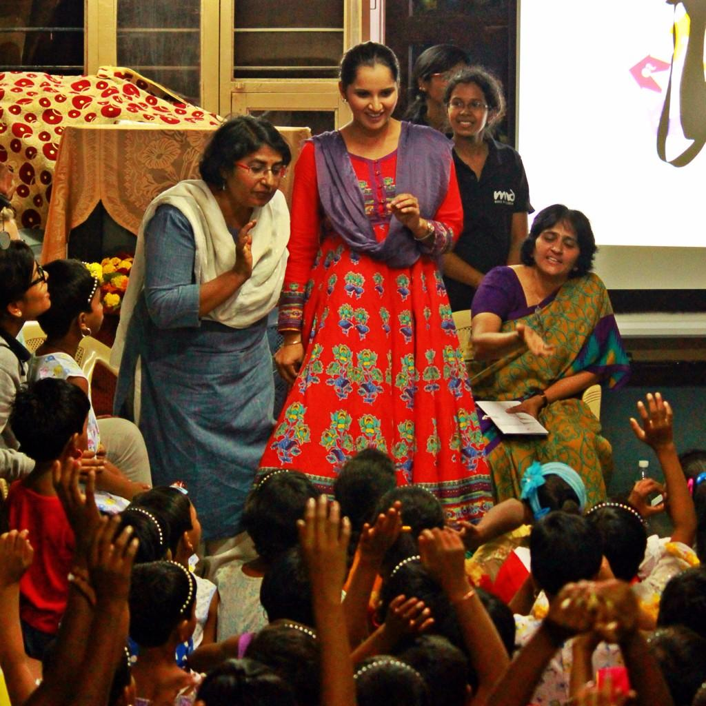 Sania Mirza Visited Rainbow Child Home