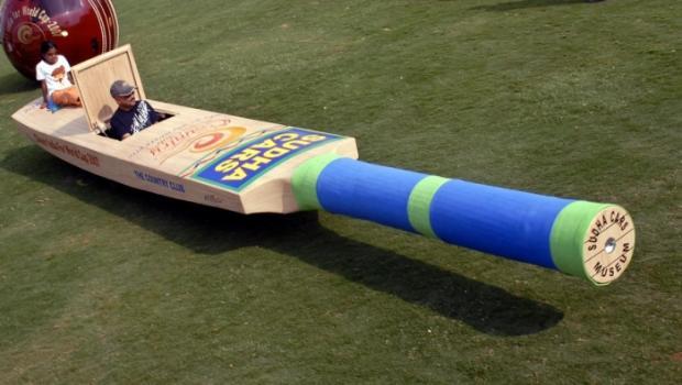 This 25-foot-long car shaped cricket bat, India