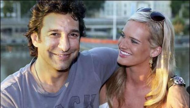 Wasim Akram remarrying an Australian woman Shaniera Thompson.