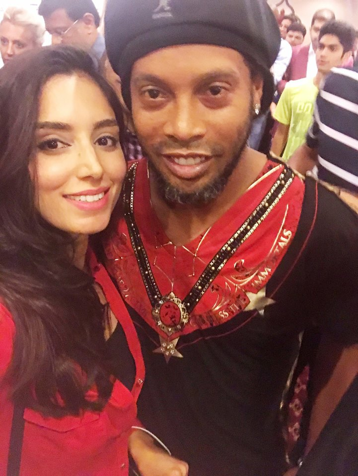 Zainab With Ronaldinho