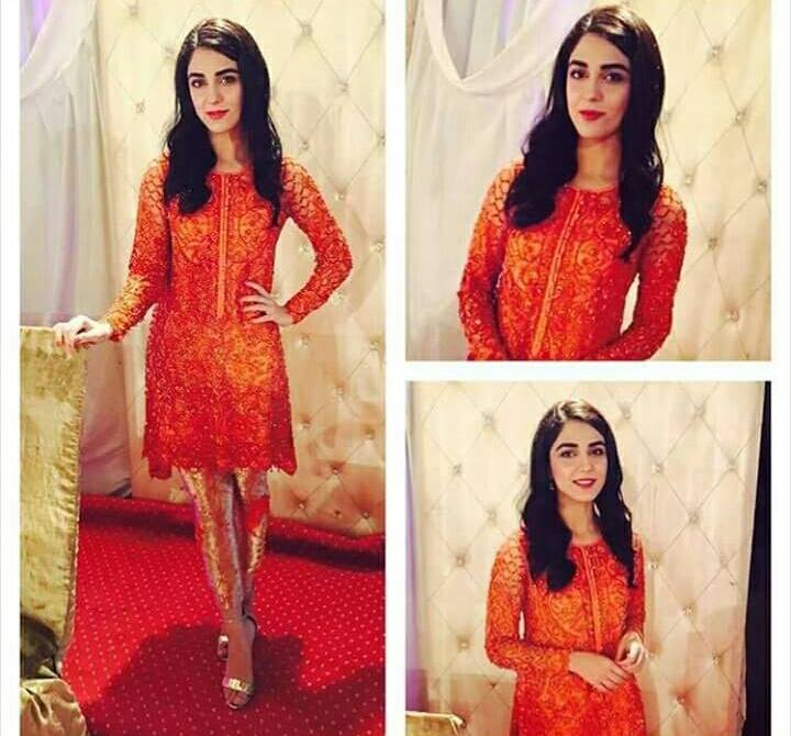 Maya Ali‬ Wearing A Beautiful Dress From Designer ‪‎Nomi Ansari‬