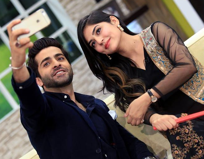 Shehryar munawwar with Sanam Baloch in the Morning Show